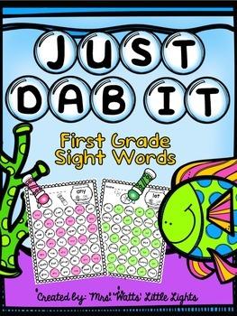Bingo Dauber Printables - First Grade Sight Words