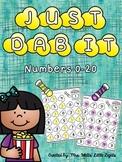 Bingo Dauber Printables - Numbers 0-20