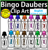 Bingo Daubers Clip Art English Personal and Commercial Use