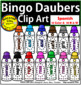 Bingo Daubers Clip Art English and Spanish BUNDLE Personal and Commercial Use
