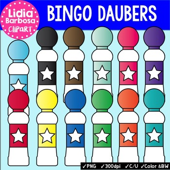 Bingo Daubers Clip Art for Teachers