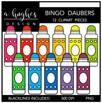 Bingo Daubers Clipart {A Hughes Design}