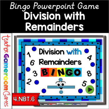 Bingo - Division with Reminders Powerpoint Game