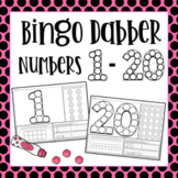 Bingo Dobber Number Formation 1-20 (Dab, Trace, and Count)