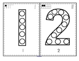 Numbers Bingo Dot Markers 0-20 Fine Motor and Counting Distance Learning