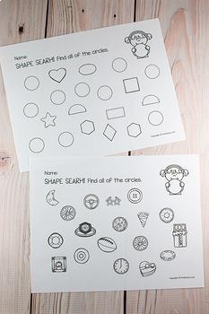 Bingo Dot Marker Shapes {Printables}
