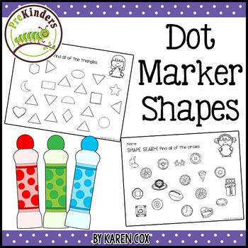 Bingo Dot Marker Shapes