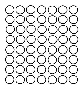 Bingo Dot Paper Blank