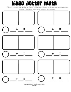 Bingo Dotter Math Game