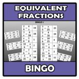 Bingo - Equivalent fractions - Fracciones equivalentes