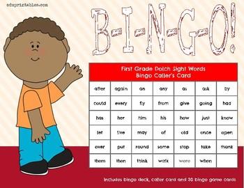 Bingo! First Grade Dolch Sight Words