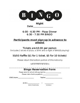 Bingo Flyer - Editable