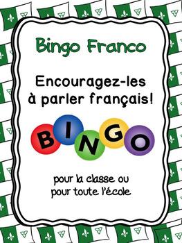 Bingo Franco: Encouragez-les à parler français! {Modifiable} *FRENCH*