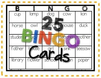 Bingo Fun with Nouns!