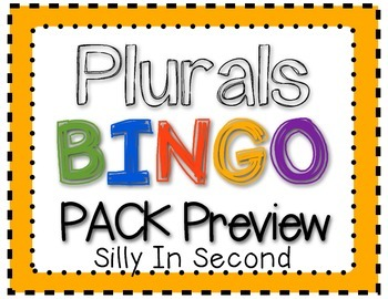 Bingo Fun with PLURALS!