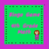 4th Grade Math, Bingo Games for Review