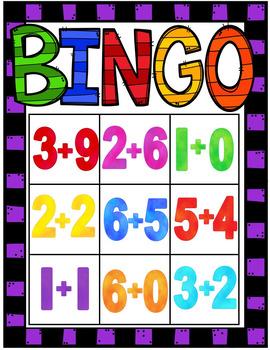 Bingo Game (Addition Facts 0-12)