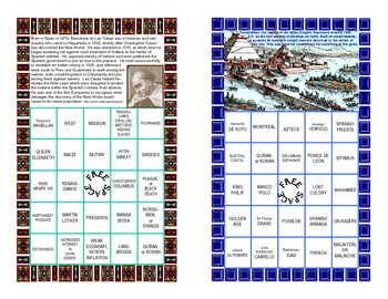 Bingo Game-All About The Age of European Exploration
