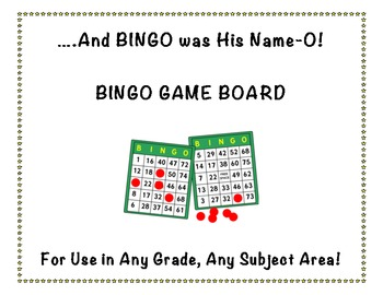 Bingo Game Board