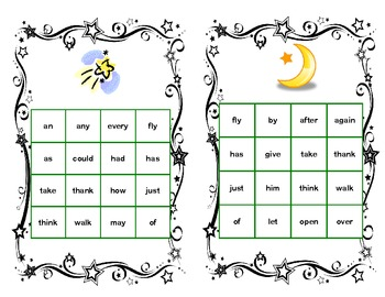 Bingo Game Fun- Sight Words for Grade 1