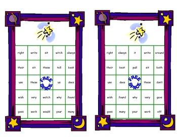 Bingo Game Fun- Sight Words for Grade 2