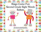 Sight Words for Grade 2-Bingo Game Fun- Robot Theme