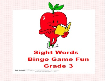 Bingo Game Fun- Sight Words for Grade 3