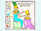 Bingo Game Multiplication Tables 0-10 Ancient Egyptian Theme