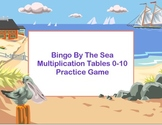 Bingo Game Multiplication Tables 0-10 Ocean Theme