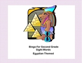 Bingo Game Sight Words for Second Grade- Ancient Egyptian Theme