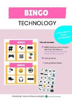 Bingo Game Technology/ Computer Vocabulary