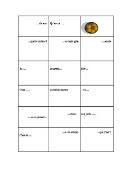 Bingo Game,  avoir, pets, articles, adjectives