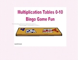 Bingo Game for Multiplication Tables 0-10