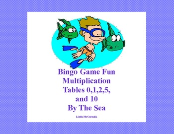 Bingo Game for Multiplication Tables 0,1,2,5, and 10 Table