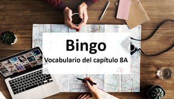Bingo Game for Practicing Realidades 8A Vocab in Context
