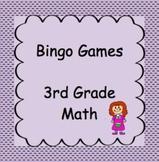 3rd Grade Math, Bingo Games, 10-12 games