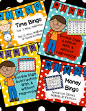 Bingo  Games Bundle: Time, Money, Addition & Subtraction