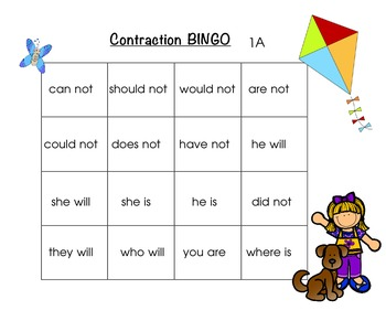 Bingo Grammar Pages: LA Center Activities Grades 1-3rd