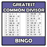 Bingo - Greatest Common Divisor - Máximo Común Divisor