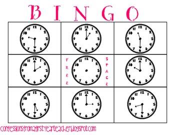 Bingo: Hour and Half Hour