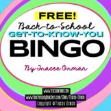 Free Bingo Icebreaker Beginning of Year Includes Blank BINGO Card