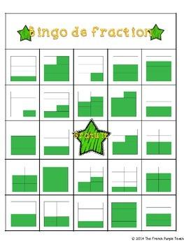 Bingo : Identifier les fractions