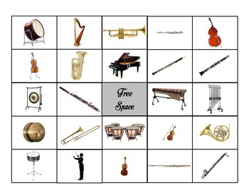 Bingo: Instruments of the Orchestra