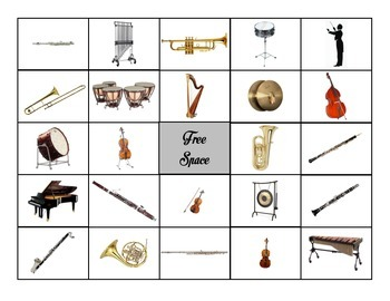 Bingo: Instruments of the Orchestra by Hannah Austin | TpT