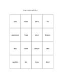 Bingo: Italian Numbers & Colors