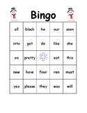 Bingo Kindergarten Primer Words Winter