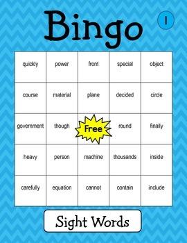 Bingo Language Arts Game
