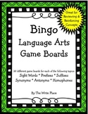 Bingo Language Arts Game