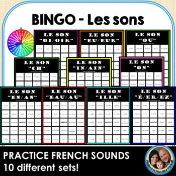 BINGO - Les sons - BUNDLE of 10 different sound BINGOs