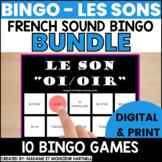 BINGO - Les sons - BUNDLE of 10 different FRENCH SOUND BINGOs